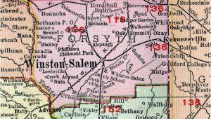 Map Of Winston Salem north Carolina Winston Salem Nc Map New forsyth County north Carolina 1911 Map Rand