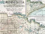 Map Of Wisconsin and Minnesota Border Antique Duluth Map Etsy