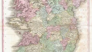 Map Off Ireland File 1818 Pinkerton Map Of Ireland Geographicus Ireland