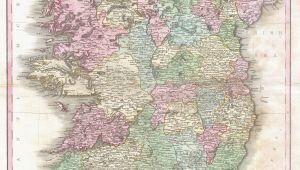 Map Og Ireland File 1818 Pinkerton Map Of Ireland Geographicus Ireland