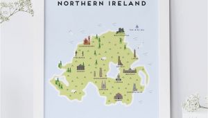 Map or northern Ireland Map Of northern Ireland Print