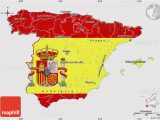 Map Pf Spain Flag Map Of Spain