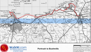 Map Portrush northern Ireland the Guide to Bushmills Visit Portrush