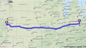 Map Quest Ohio Driving Directions From Columbus Ohio 43235 to Denver Colorado