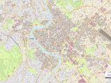 Map Rome Italy City Center Roma City Map Laminated Wall Map Of Rome Italy
