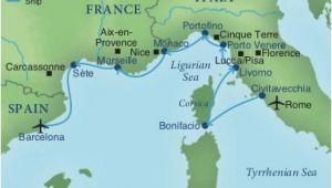 Map Sete France Map Of Spain France and Italy Cruising the Rivieras Of Italy France