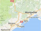 Map Sete France Pinterest