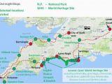 Map south Coast England Jurassic Coast and Cornwall England