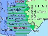 Map south East France Italian Occupation Of France Wikipedia