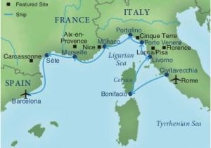 Map southern France and Italy Cruising the Rivieras Of Italy France Spain Smithsonian Journeys