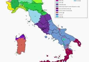 Map southern France and Italy Linguistic Map Of Italy Maps Italy Map Map Of Italy Regions