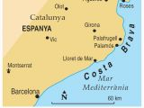 Map Spain Costa Brava Map Of Costa Brave and Travel Information Download Free Map Of