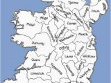 Map with Counties Of Ireland Counties Of the Republic Of Ireland