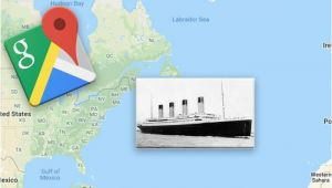 Maps.google.com Europe Google Maps Exact Location Of the Titanic Wreckage Revealed
