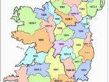 Maps Ireland Counties Griffith S Valuation County Map with Dates Of Publication