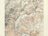 Maps Of Cincinnati Ohio Ohio Historical topographic Maps Perry Castaa Eda Map Collection