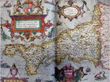 Maps Of Cornwall England Tudor Map Of Cornwall 1579 Christopher Saxton the
