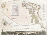 Maps Of Italy with Cities File 1832 S D U K City Plan or Map Of Pompeii Italy Geographicus