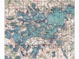 Maps Of Minnesota Lakes Hand Painted Map Of Lake Minnetonka Minnesota 1905 Retro Lake