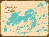 Maps Of Minnesota Lakes Our 1950s Style Maps Look Fantastic On these Vintage Inspired