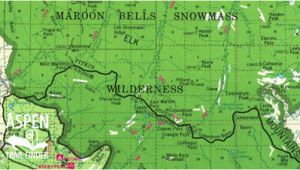 Maroon Bells Colorado Map Trail Maps aspen Trail Finder