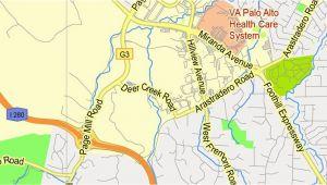 Menlo Park California Map Printable Map Menlo Park California Exact Vector Street G View