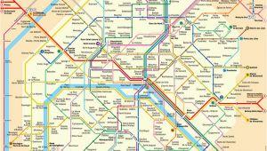 Metro Map Of Paris France In English Plan Der Pariser Metro Paris Metroplan Metronetz Map
