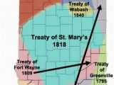 Miami Of Ohio Map Miami Treaties In Indiana Maps Indiana Native American History