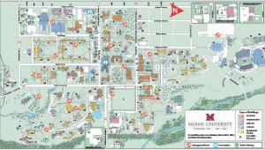 Miami University Ohio Campus Map Oxford Campus Maps Miami University