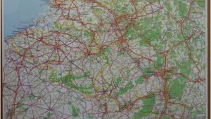 Michelin Road Maps Europe Michelin Road Map Western Europe West Germany Belgium
