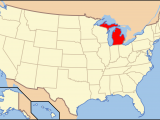 Michigan On A Us Map Index Of Michigan Related Articles Wikipedia