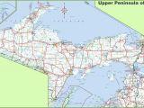 Michigan Road Map Of State Map Of Upper Peninsula Of Michigan