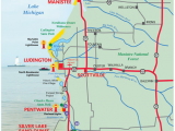 Michigan Road Map Of State West Michigan Guides West Michigan Map Lakeshore Region Ludington