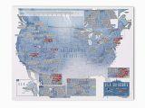 Michigan Snow Load Map Amazon Com Maps International Scratch Off Usa Map Skiing Print