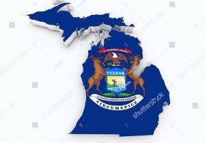 Michigan State In Usa Map United States Map with Flag Colors Unique United States Map with