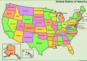 Michigan State In Usa Map Usa States Map List Of U S States