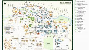 Michigan State University Parking Map Msu Maps Blank Map Of America