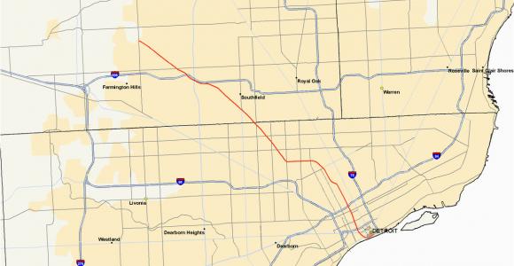 Michigan Thumb Map M 10 Michigan Highway Wikipedia