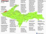 Michigan Waterfalls Map Map Of Eastern Upper Peninsula Of Michigan Trips In 2019 Upper
