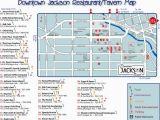 Michigan Wine Trail Map Downtown Jackson Restaurant Map Downtown Jackson Mi Usa Mappery