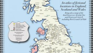 Midsomer England Map Fake Britain A Map Of Fictional Locations In England Scotland