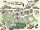 Midsomer England Map St Mary Mead the Fictional Village Created by Dame Agatha Christie