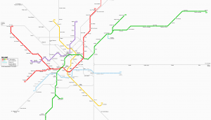 Milan Italy Subway Map Milano Metro Map