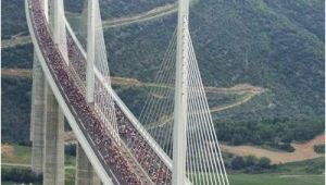 Millau Viaduct France Map Runner S Marathon On Millau Viaduct Bridge France Thanks but Not