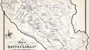 Milpitas California Map Ralph Rambo S Hand Drawn Map Of Santa Clara Valley Ranchos During
