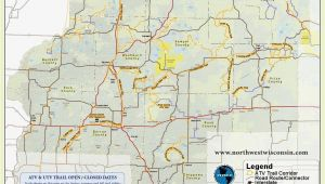 Minnesota Amish Map Nw Wisconsin atv Snowmobile Corridor Map 4 Wheeling Trail Maps