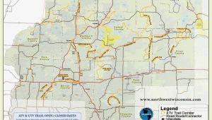 Minnesota Bike Trails Map Nw Wisconsin atv Snowmobile Corridor Map 4 Wheeling Trail Maps