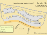 Minnesota Camping Map Map Of Santa Rosa Campground In Carpinteria State Beach Ca