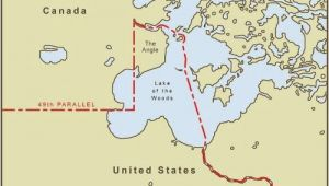 Minnesota Canada Border Map Minnesota S northwest Angle is Only Accessible by Land if You