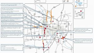 Minnesota Department Of Transportation Traffic Map Closures On I 35w Lane Reductions Throughout Metro area This Weekend